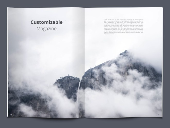 Customizable Magazine Template For Sketch