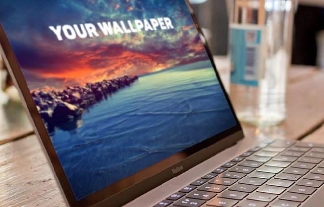 Realistic Macbook 2015 Mockup PSD