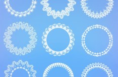 Lace Circles Pack Vector