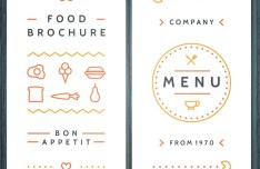 Creative Food Brochure Template Vector