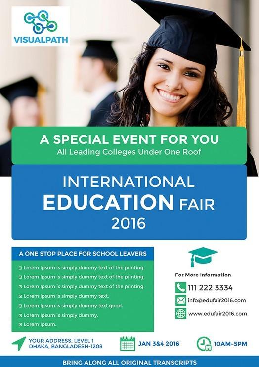 Free Education Flyer Template Psd Titanui border=