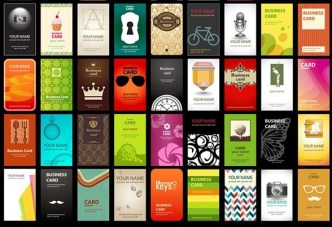 50 Hipster Vertical Business Card Templates Vector