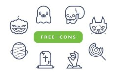 Cute Halloween Icon Pack Vector