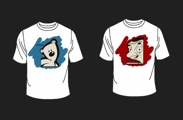 Mr BEAN and Teddy T-shirt Mockup PSD