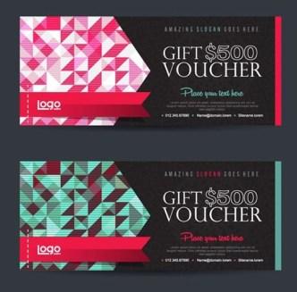 2 Creative Gift Certificates Vector