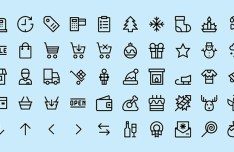 50 Christmas & Shopping Icons Vector