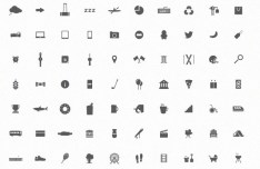 70 City Icons (PSD, SVG, Vector, WEBFONT)