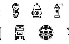 60 Urban Icons Vector