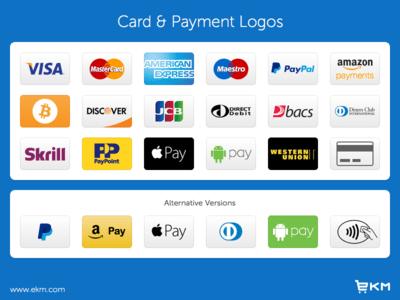 Credit Card & Payment Logos & Icons