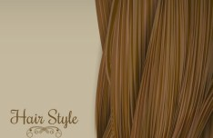 Brown Hair Style Vector Illustration
