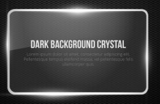 Glossy Dark Crystal Frame Vector