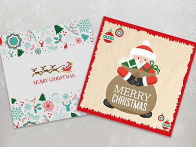 20 Beautiful Christmas Greeting Card Templates Vector