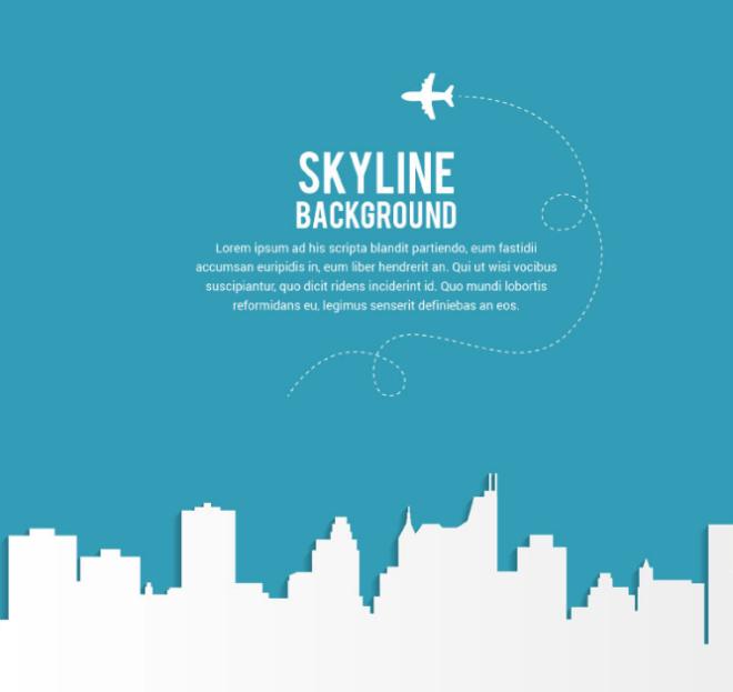 Skyline & City Silhouette Background Vector