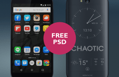 Yotaphone 2 Black PSD Mockup