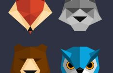 Polygon Animal Icons PSD