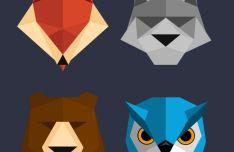 Polygon Animal Icons PSD