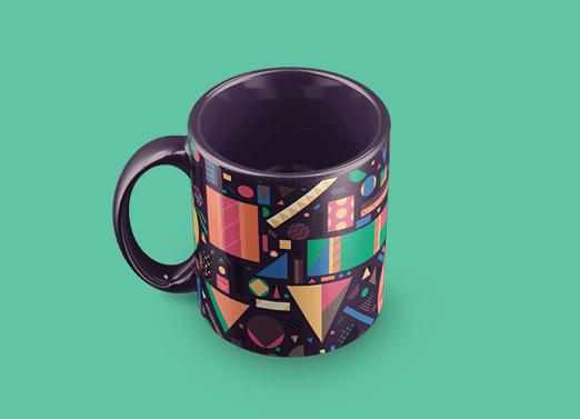 4 Realistic Mug Mockups PSD