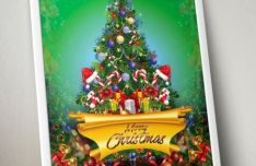 Nice Christmas Flyer Template PSD