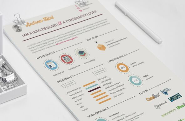 Vintage Resume (CV) Template PSD