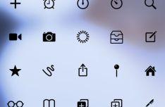 3D Touch Quick Action Menu Icon Set PSD