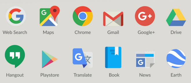 Google Product Logos Icons Vector