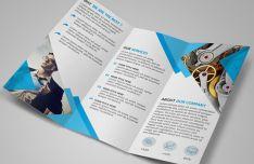 Modern Blue Tri-fold Brochure Template PSD