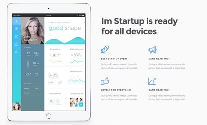 I'm Startup One Page Template PSD