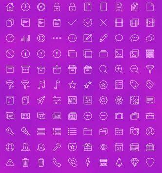 Multi-purpose Line Icons Set Vector