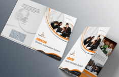 Orange Business Tri-fold Brochure Template PSD