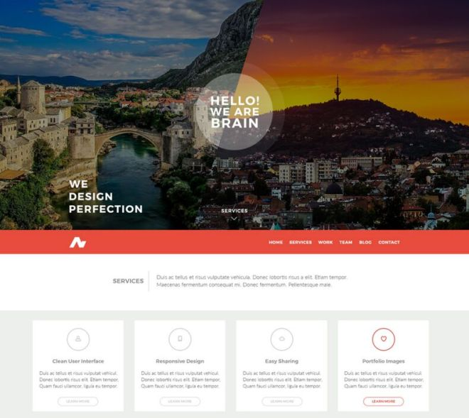 .ba Modern One Page Website Template PSD