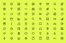 72 Minimal UI Icons