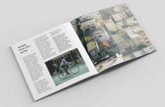 Square Fashion Magazine Mockup PSD