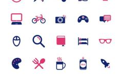 20+ Coworking Vector Icons (2 Colors)