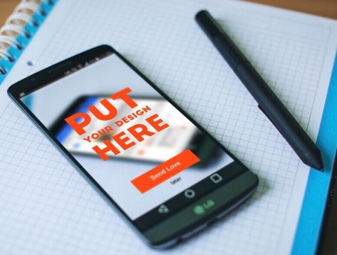 LG Android Phone Mockup PSD
