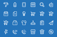 100 Web Line Icons Pack Vector
