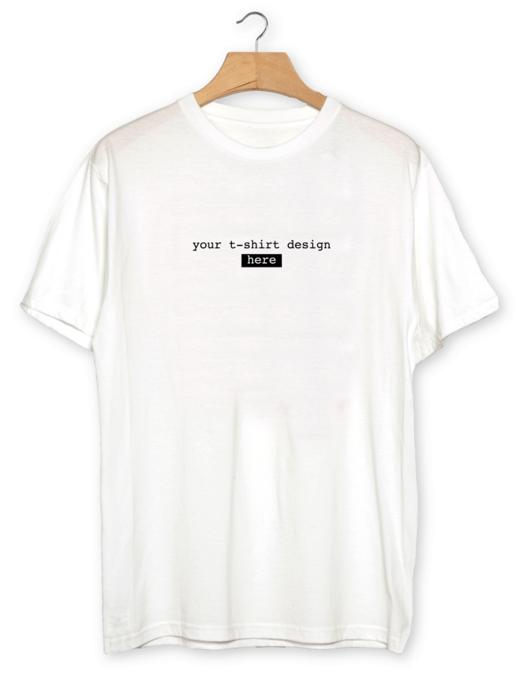 Customizable White Realistic T-shirt Mockup PSD