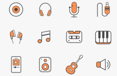 12 Music Icons Vector