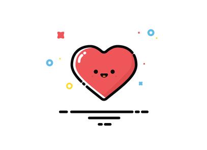 Lovely Cartoon Heart Vector