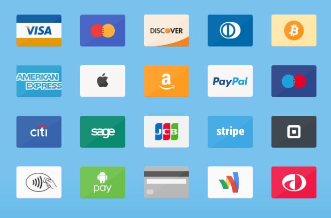 20 Flat Credit Cards PSD