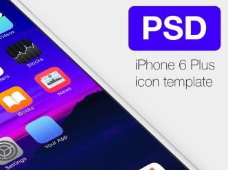 iPhone6 Plus iOS App Template PSD