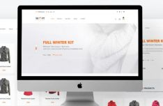 Shopy - Fashion E-commerce Website Template PSD