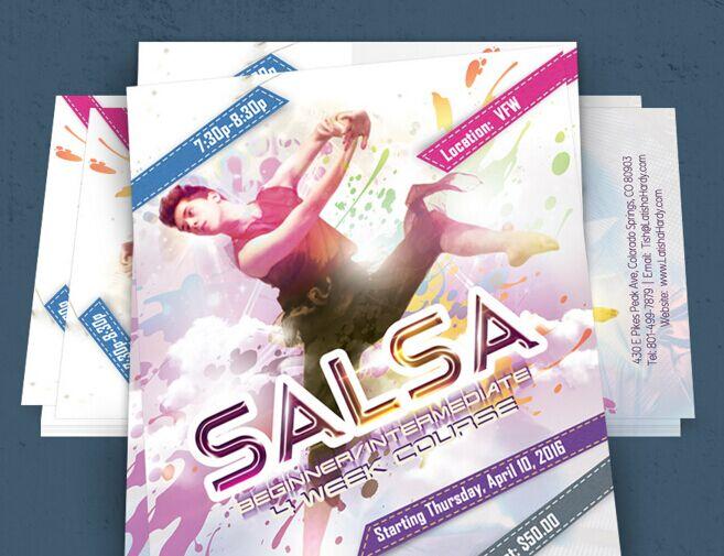 Free Customizable Dance Flyer Psd Template Titanui
