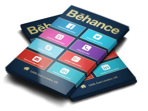 Windows Business Card Template PSD