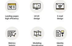 6 Design Studio Vector Icons
