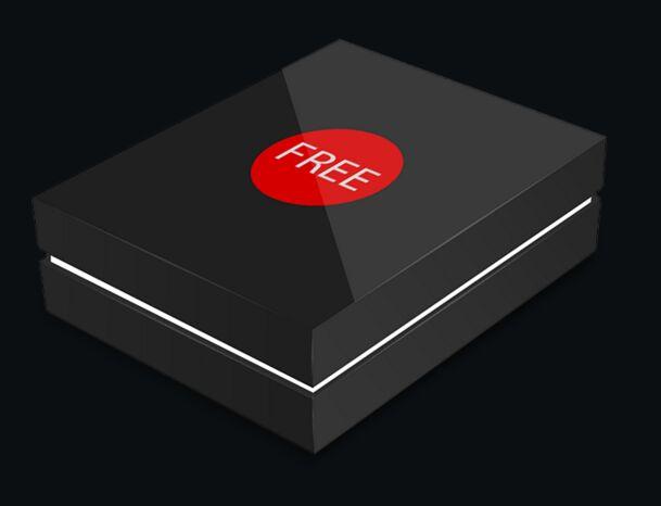 Download Free Sleek Black Box Mockup PSD - TitanUI