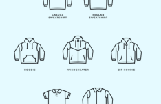 Simple Clothing Icon Pack Vector
