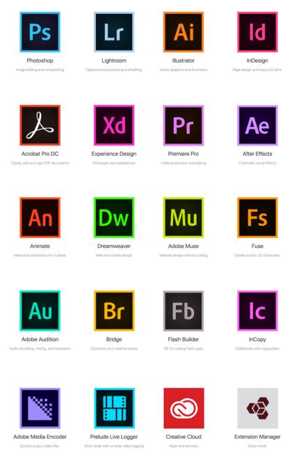 Free 20 Adobe Cc 2015 App Icons Titanui