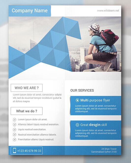 Free Modern & Creative Flyer Template PSD TitanUI