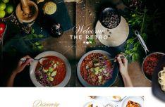 Retro Restaurant & Food Landing Page Template