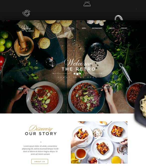 Retro Restaurant & Food Landing Page Template